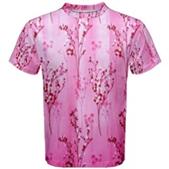 Pink Curtains Background Men s Cotton Tee