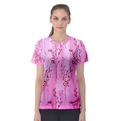 Pink Curtains Background Women s Sport Mesh Tee