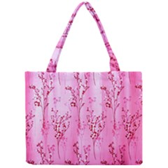 Pink Curtains Background Mini Tote Bag