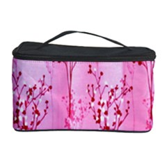 Pink Curtains Background Cosmetic Storage Case