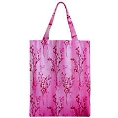 Pink Curtains Background Zipper Classic Tote Bag