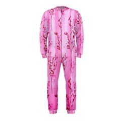 Pink Curtains Background OnePiece Jumpsuit (Kids)