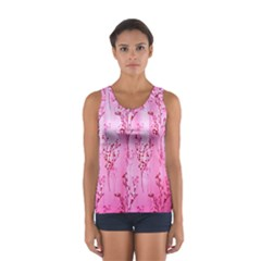 Pink Curtains Background Women s Sport Tank Top