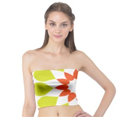 Tikiwiki Abstract Element Flower Star Red Green Tube Top
