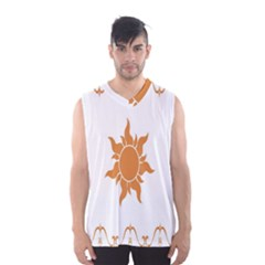 Sunlight Sun Orange Men s Basketball Tank Top