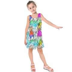 Fur Fabric Kids  Sleeveless Dress