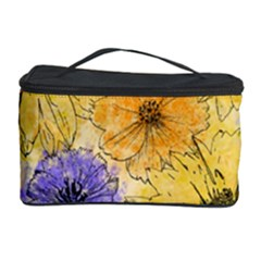Multi Flower Line Drawing Cosmetic Storage Case