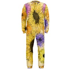 Multi Flower Line Drawing Onepiece Jumpsuit (men)