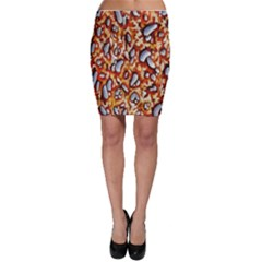 Pebble Painting Bodycon Skirt