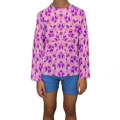 Mandala Tiling Kids  Long Sleeve Swimwear