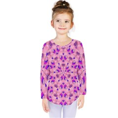 Mandala Tiling Kids  Long Sleeve Tee