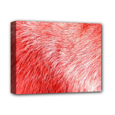 Pink Fur Background Deluxe Canvas 14  x 11