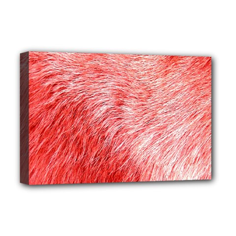 Pink Fur Background Deluxe Canvas 18  x 12