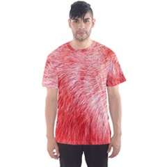 Pink Fur Background Men s Sport Mesh Tee