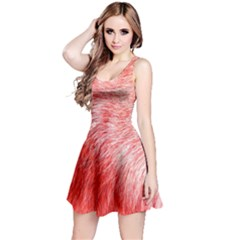 Pink Fur Background Reversible Sleeveless Dress