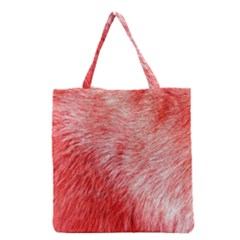 Pink Fur Background Grocery Tote Bag