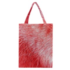 Pink Fur Background Classic Tote Bag