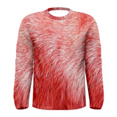 Pink Fur Background Men s Long Sleeve Tee