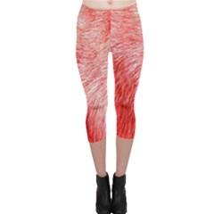 Pink Fur Background Capri Leggings