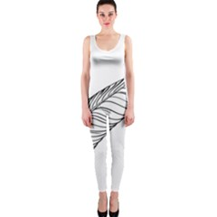 Feather Line Art Onepiece Catsuit