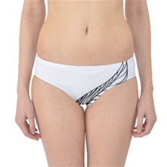 Feather Line Art Hipster Bikini Bottoms