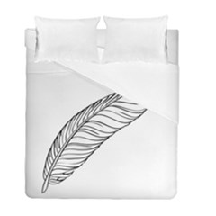 Feather Line Art Duvet Cover Double Side (full/ Double Size)