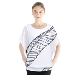 Feather Line Art Blouse