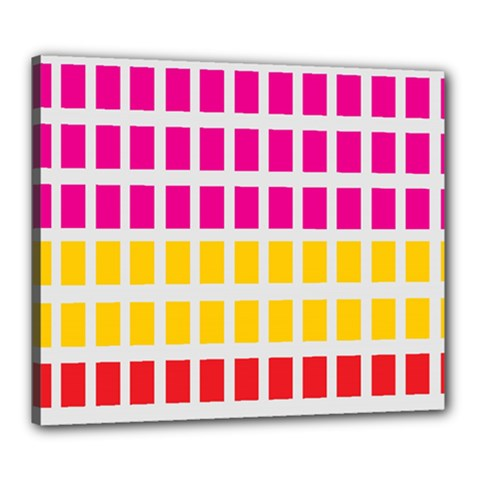 Squares Pattern Background Colorful Squares Wallpaper Canvas 24  x 20