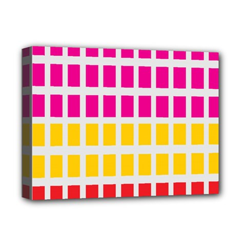 Squares Pattern Background Colorful Squares Wallpaper Deluxe Canvas 16  x 12