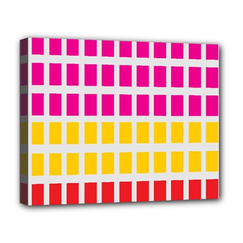Squares Pattern Background Colorful Squares Wallpaper Deluxe Canvas 20  x 16
