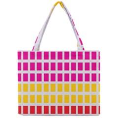 Squares Pattern Background Colorful Squares Wallpaper Mini Tote Bag
