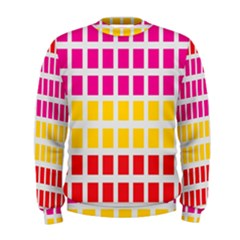 Squares Pattern Background Colorful Squares Wallpaper Men s Sweatshirt