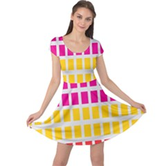Squares Pattern Background Colorful Squares Wallpaper Cap Sleeve Dresses