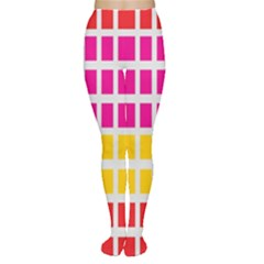Squares Pattern Background Colorful Squares Wallpaper Women s Tights