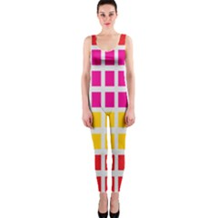 Squares Pattern Background Colorful Squares Wallpaper Onepiece Catsuit