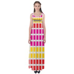 Squares Pattern Background Colorful Squares Wallpaper Empire Waist Maxi Dress