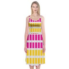 Squares Pattern Background Colorful Squares Wallpaper Midi Sleeveless Dress