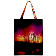 Fall Forest Background Classic Tote Bag