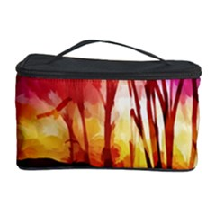Fall Forest Background Cosmetic Storage Case