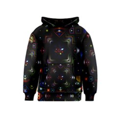 Geometric Line Art Background In Multi Colours Kids  Pullover Hoodie