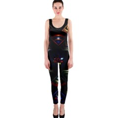 Geometric Line Art Background In Multi Colours OnePiece Catsuit