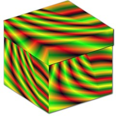 Neon Color Fractal Lines Storage Stool 12