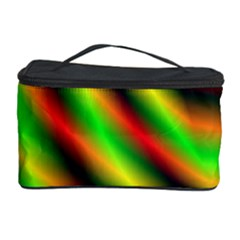 Neon Color Fractal Lines Cosmetic Storage Case