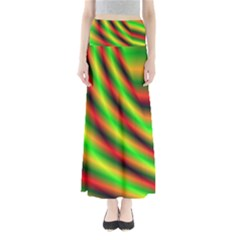 Neon Color Fractal Lines Maxi Skirts