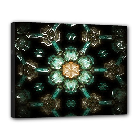 Kaleidoscope With Bits Of Colorful Translucent Glass In A Cylinder Filled With Mirrors Canvas 14  X 11