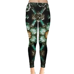 Kaleidoscope With Bits Of Colorful Translucent Glass In A Cylinder Filled With Mirrors Leggings