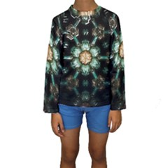 Kaleidoscope With Bits Of Colorful Translucent Glass In A Cylinder Filled With Mirrors Kids  Long Sleeve Swimwear