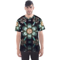 Kaleidoscope With Bits Of Colorful Translucent Glass In A Cylinder Filled With Mirrors Men s Sport Mesh Tee