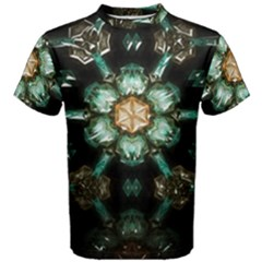 Kaleidoscope With Bits Of Colorful Translucent Glass In A Cylinder Filled With Mirrors Men s Cotton Tee