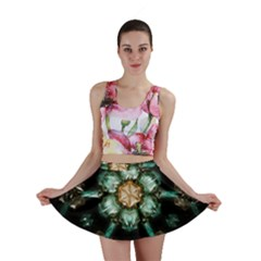 Kaleidoscope With Bits Of Colorful Translucent Glass In A Cylinder Filled With Mirrors Mini Skirt